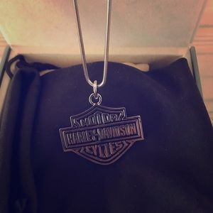 NWOT Stainless steel Harley Davidson B&S Necklace